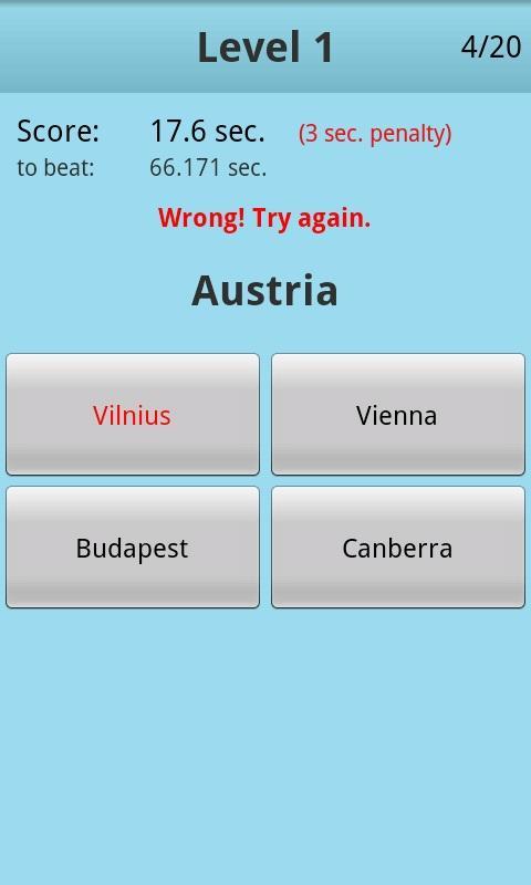 Countries Capitals Quiz PRO - screenshot
