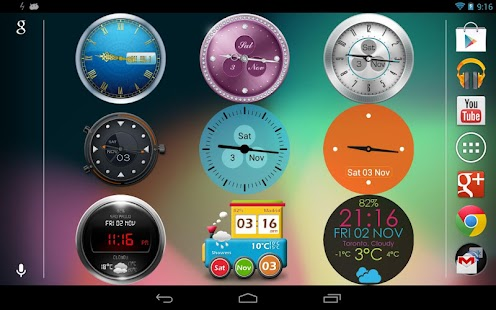 Beautiful Clock Widget Pro- screenshot thumbnail