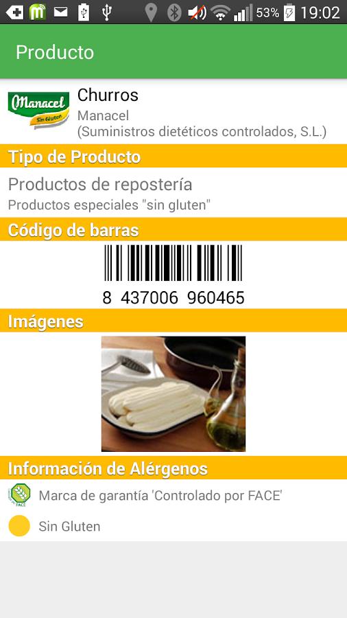 mobiCeliac [mini] - screenshot