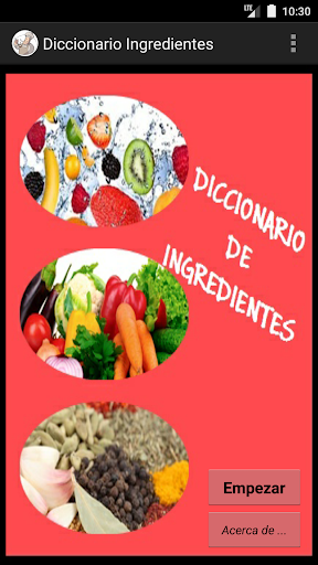 Diccionario de ingredientes