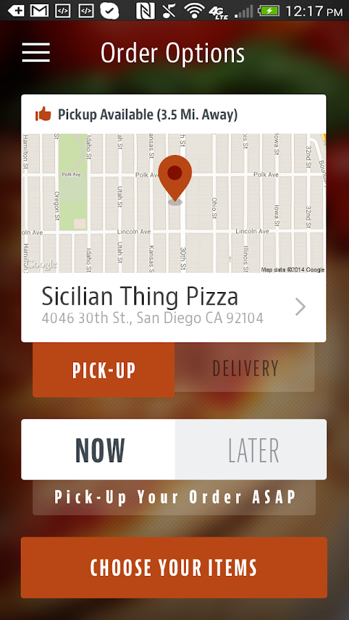 Sicilian Thing Pizza- screenshot
