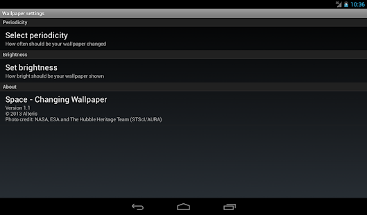 space changing wallpaper apps on google play