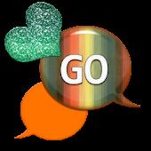 GO SMS - Sparkling Hearts 5