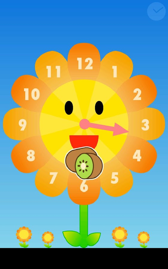 Sunflower clock- screenshot