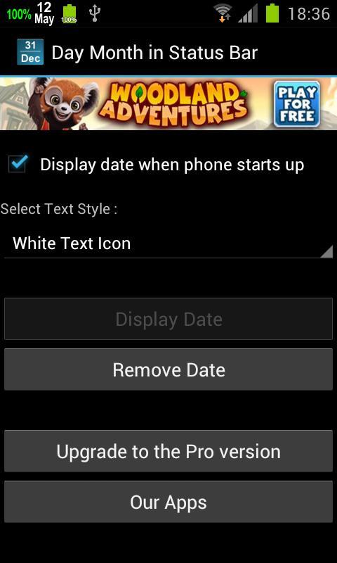 Calendar Status Bar- screenshot
