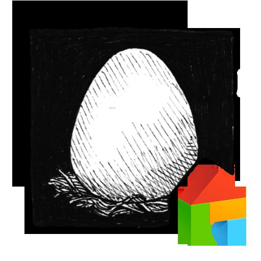 Simple penguin dodol theme LOGO-APP點子