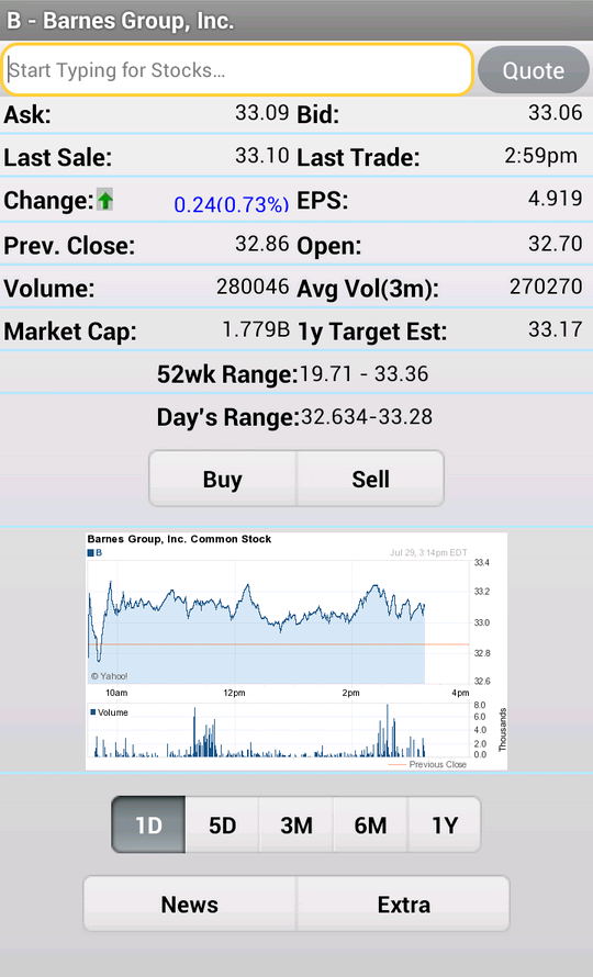 Stock Market Simulator - screenshot