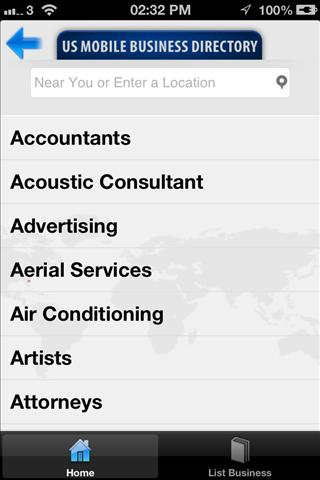 US Mobile Business Directory- screenshot