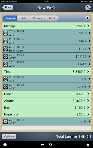 Biz Expense Tracker - Android Screenshot