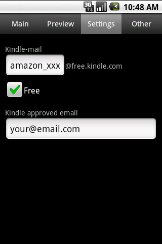 Send to Kindle - screenshot