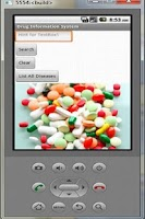 Screenshot of DRUG INFORMATION SYSTEM