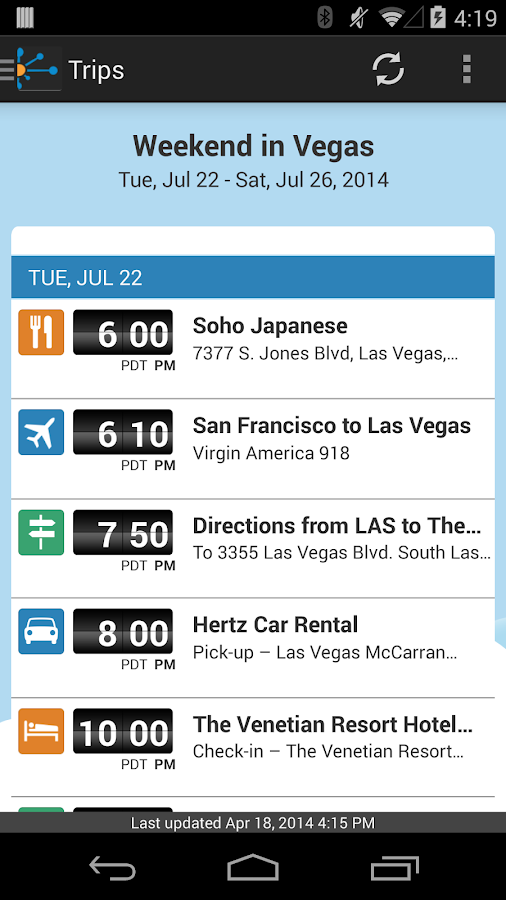 TripIt Travel Organizer – Free - screenshot