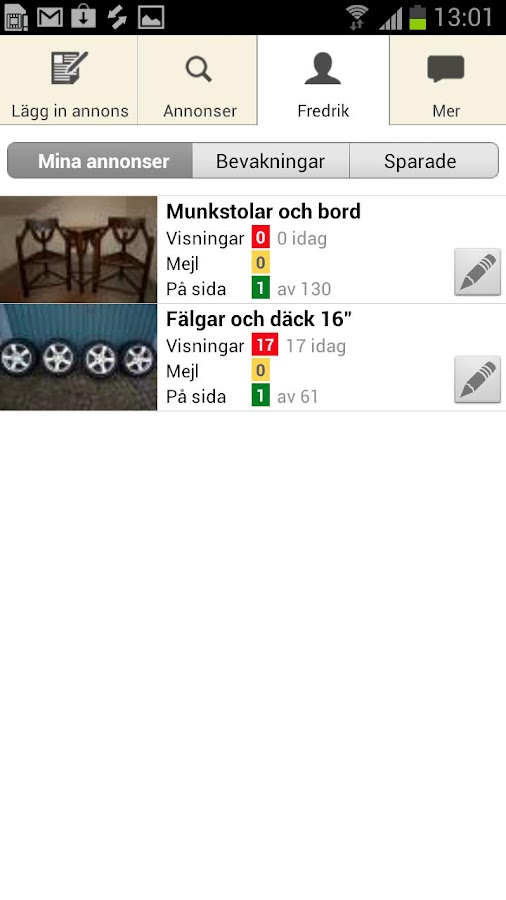Blocket - screenshot