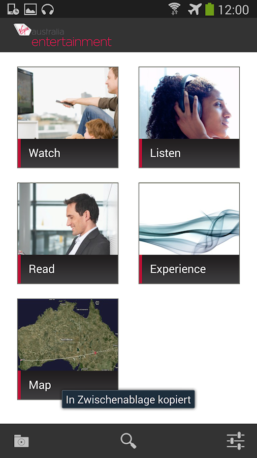 Virgin Australia Entertainment - screenshot