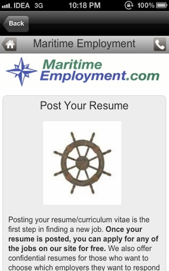 Maritime Job Search- screenshot