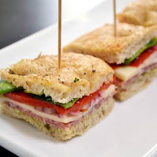 Italian Salami Sandwiches.