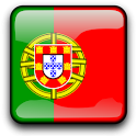 Portugal Flag Clock Widget