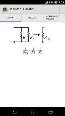 Series/Parallel Resistors - screenshot