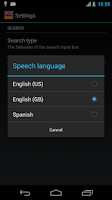 Screenshot of Offline English Spanish dict.