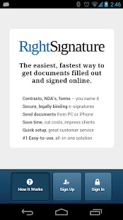 RightSignature™- screenshot thumbnail