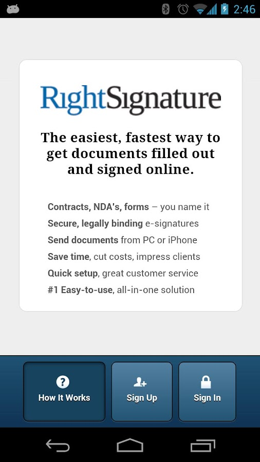 RightSignature™- screenshot