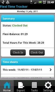 Flexi Time Tracker Lite - screenshot thumbnail