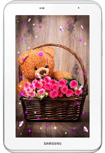 【免費個人化App】Teddy bear flowers HQ LWP-APP點子