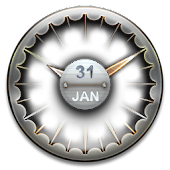 Smooth Metal Clock Widget