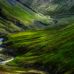 Behind the wallpaper by Kaspars Dzenis - Landscapes Mountains & Hills ( stream, mountains, iceland, nature, slope, green, travel, valley, landscape, river, renewal, trees, forests, natural, scenic, relaxing, meditation, the mood factory, mood, emotions, jade, revive, inspirational, earthly,  )