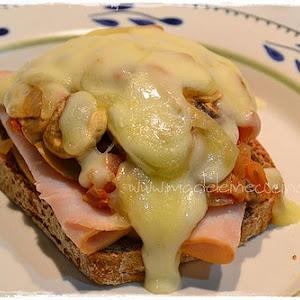 One Slice Mushroom Sandwich