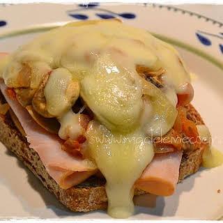 One Slice Mushroom Sandwich.