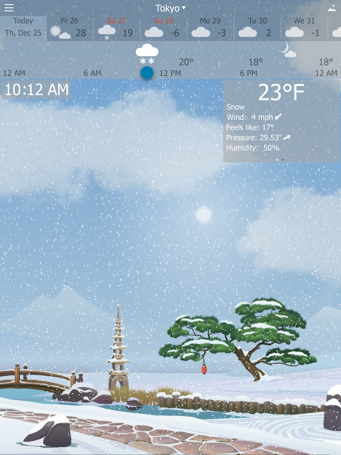 Precise Weather YoWindow- screenshot