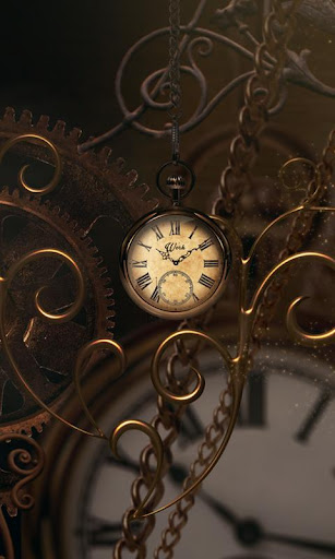 Gold Clock live wallpaper HD