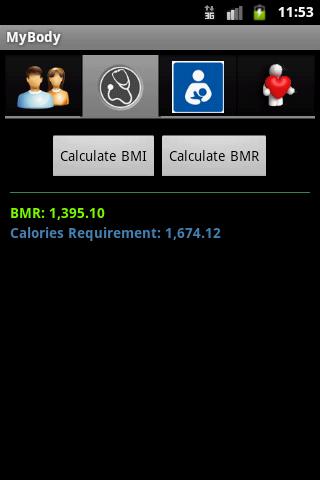 MyBody - Health Calculator- screenshot