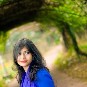 himi by Arafat Chowdhury - People Portraits of Women ( himi blue angel green background )