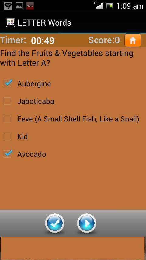 Letter Words Quiz A To Z- screenshot