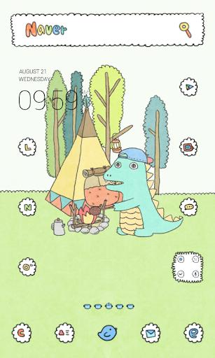 아기공룡용용 캠핑 도돌런처 테마