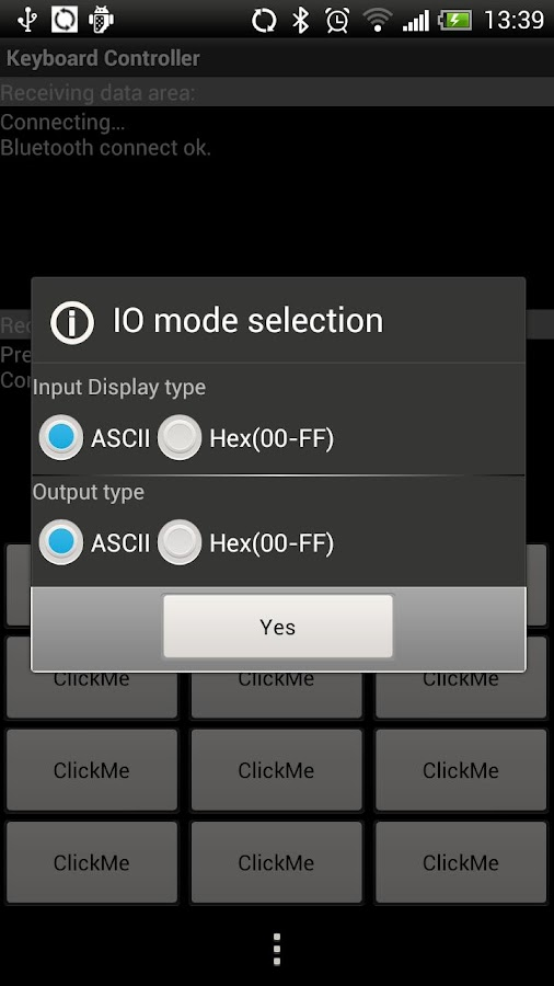 Bluetooth SPP- screenshot