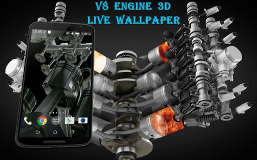 V8 Engine 3D Live Wallpaper