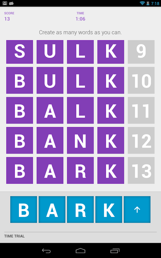 WordKick- screenshot