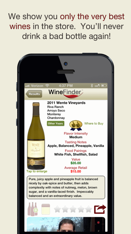 Thumbs Up WineFinder App Free- screenshot