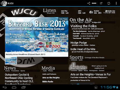 WJCU Radio, 88.7 FM Cleveland- screenshot thumbnail