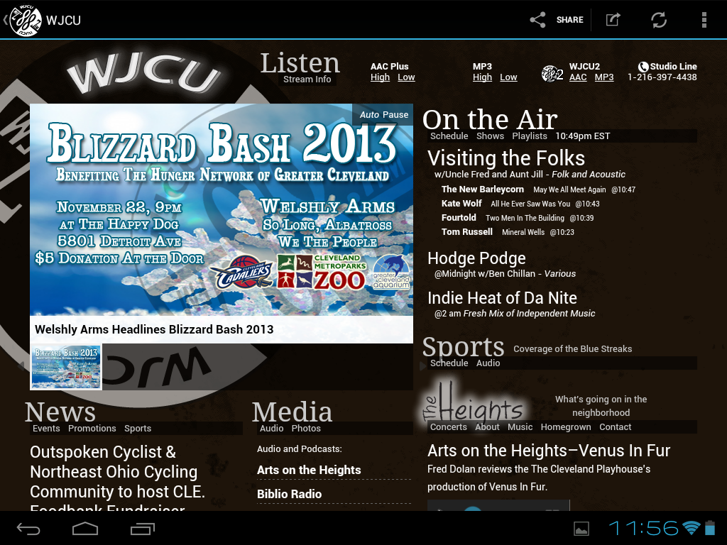 WJCU Radio, 88.7 FM Cleveland - screenshot