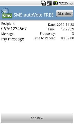 SMS autoVote PRO