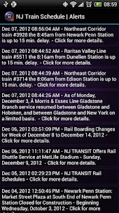 NJ Train Schedule - screenshot thumbnail