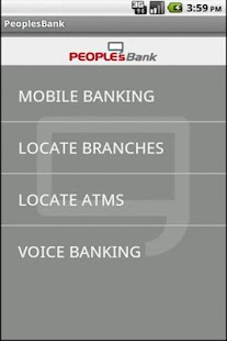PeoplesBank Mobile Banking App - screenshot thumbnail