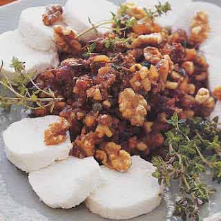 Fig and Walnut Tapenade with Goat Cheese.