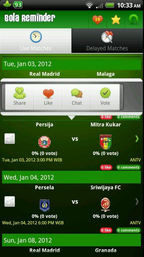 Bola Reminder - Indonesia - screenshot