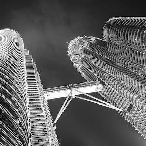Vertigo by Marco Parenti - Buildings & Architecture Other Exteriors ( skyscraper, black and white, architecture )