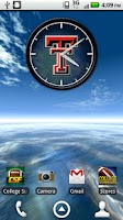 Screenshot of Texas Tech Live Clock